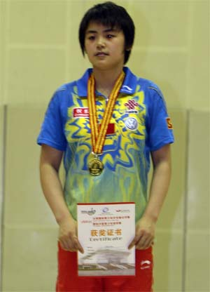 Zhao Yan outstanding on the ITTF Junior Circuit