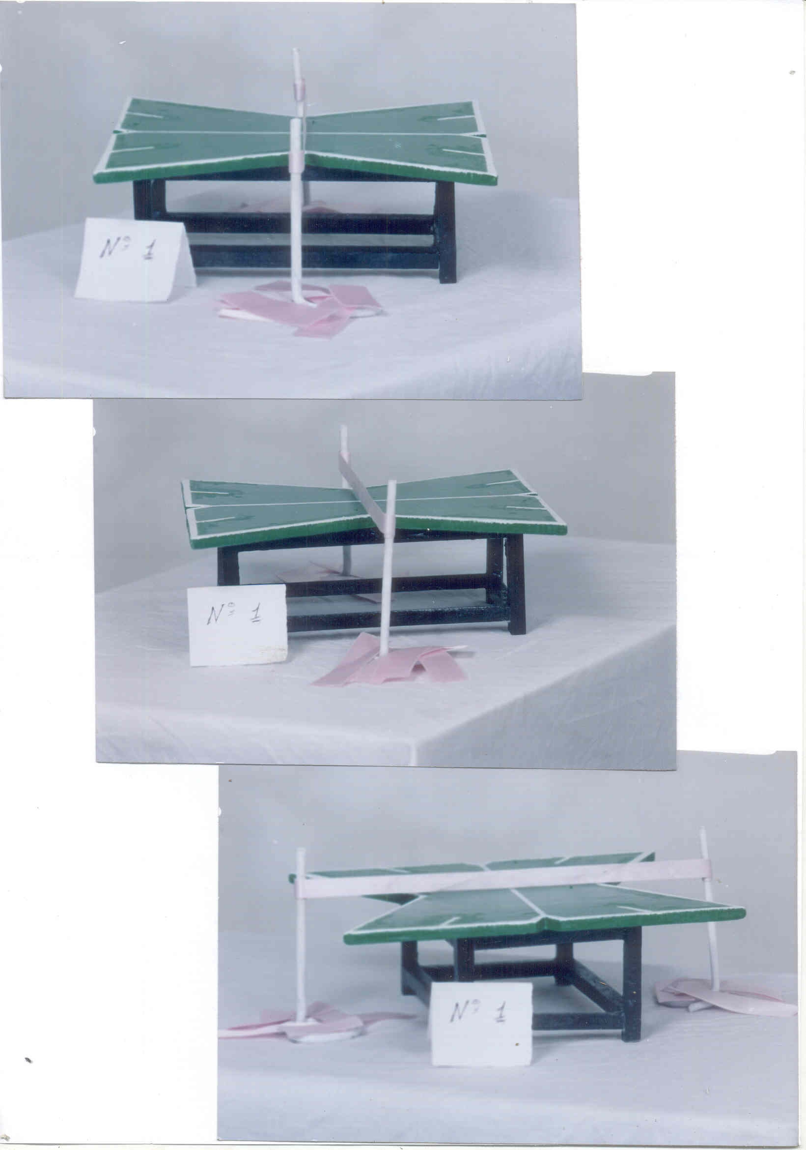 Model 2 Shows The X Shaped Table Tennis S Surface Designed And Edged With 4 Four Acute Angles At 50 Degrees