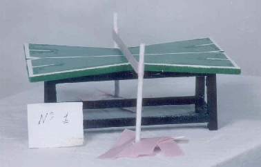 X-shaped table design